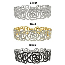 Diamond Accent Flower Bracelet