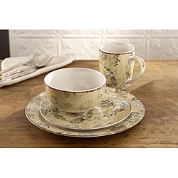 Waverly Casablanca French Cream 16-piece Dinner Set
