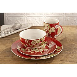 Waverly Tea Dance Paprika 16-piece Dinner Set