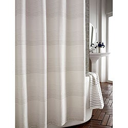 Pique Contrast Stitched Shower Curtain