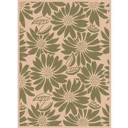 Garden Town Collection Green Area Rug (7'10 x 10'3)