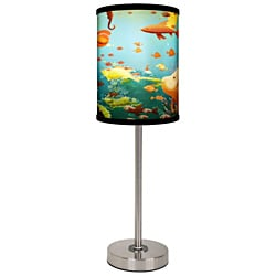 Lamp-In-A-Box Aquarium Brushed Nickel Table Lamp