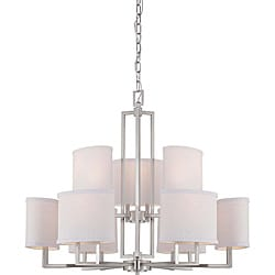 Gemini Brushed Nickel 9-light Chandelier