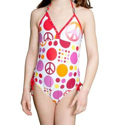 Lisabelle Girls' 'Dottie' One-piece Swimsuit