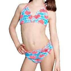 Girls' Heart Strings 2-piece Bikini Swimsuit