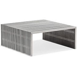Novel Square Stainless Steel Coffee Table