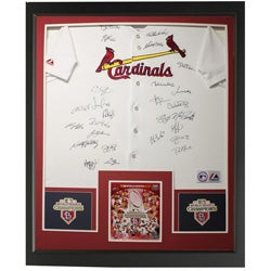 St.Louis Cardinals Autographed Team Jersey 2011 World Series Champion  Frame