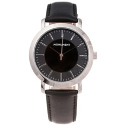 Monument Men's Silvertone Case Analog Watch