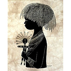 'Maasai Child' Heidi Lange Screen Print (Kenya)