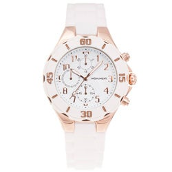 Monument Women's Rubber Strap Rose-goldtone Sporty Watch