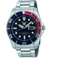 Seiko Men's Blue Dial Stainless Steel Watch