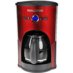 Kalorik Red 12 Cup Programmable Coffee Maker Refurbished
