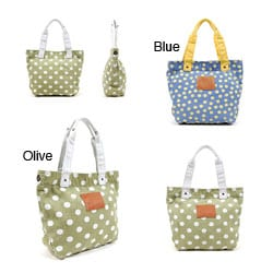 Nikky Wendy Polka Dot Canvas Tote Bag