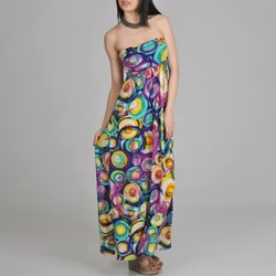 24/7 Comfort Apparel Women&#39;s Printed Maxi Dress