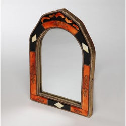 Hand-Carved Bone Moroccan Mirror (Morocco)