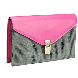 Urban Expressions Mariel Clutch in Berry and Grey