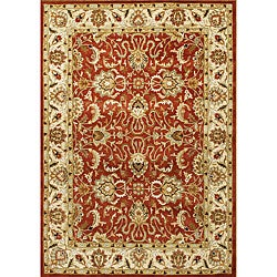 Alliyah Hand Made Soft Red New Zeeland Wool Rug (10&#39; x 12&#39;)