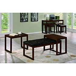 Hilton Black Coffee Table with 2 Nesting Side Tables