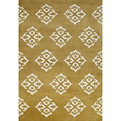 Alliyah Hand Made Tufted Summer Melon Made In New Zealand Blend Wool Rug (5' x 8')