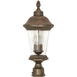 Clarion 3-light Platinum Gold Post Lantern