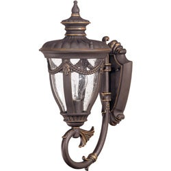 Philippe Arm Up 1-light Belgium Bronze Wall Sconce
