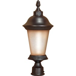 Clarion 1-light Chestnut Bronze Post Lantern
