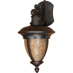 Galeon Arm Down 1-light Old Penny Bronze Wall Sconce