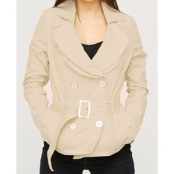 Jou Jou Juniors' Khaki Sateen Belted Jacket
