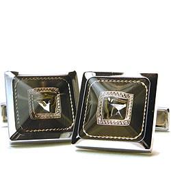 Geofranco Ruffini Silver Tone Square Cufflinks