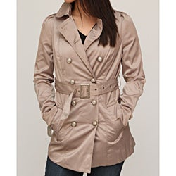 Jou Jou Juniors' Taupe Belted Trench Jacket