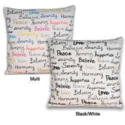 Buddha Words Square Pillow