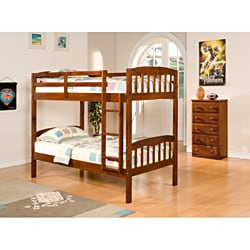 Mission Twin / Twin Bunk Bed in Espresso