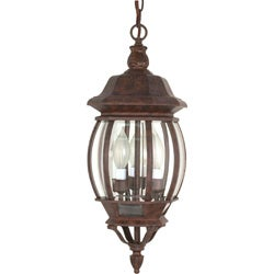 Central Park 3 Light Old Bronze With Clear Beveled Panels Hanging Lantern