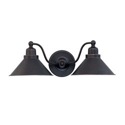 Bridgeview 2 Light Mission Dust Bronze Wall Sconce