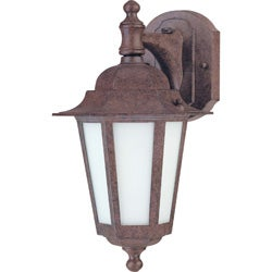 Cornerstone 1 Light Old Bronze With Satin White Glass Wall Lantern