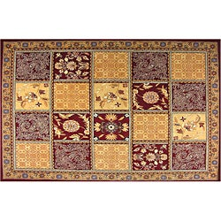 Persian Tile Wool Rug (5' x 8')