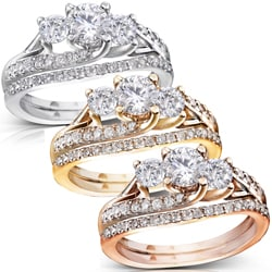 14k Gold 1 1/10ct TDW Diamond Bridal Rings Set (H-I, I1-I2)