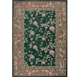 Florence Cranberry Wool Rug (5'3 x 8'3)