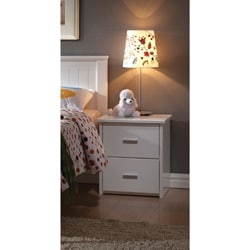 White Finish Bungalow Nightstand