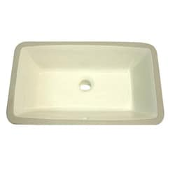 Highpoint Collection 19 x 11-inch Undermount Bisque Vanity Sink