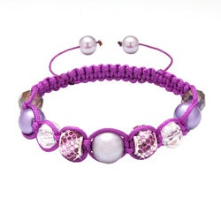 Bleek2Sheek Karma Collection Purple Crystal Edition Macrame Bracelet
