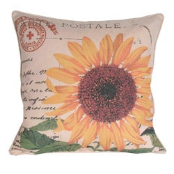 French Yellow Sunflower Decorative Pillow