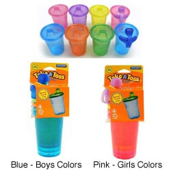 The First Years Take & Toss 10-ounce Spill-proof Cups (Pack of 4)