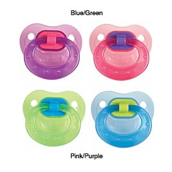 NUK Lollipop Size 2 Orthodontic Latex Pacifiers (Pack of 2)