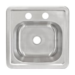 LessCare LT62 Top Mount Single Bowl 304 Stainless Steel Sink 20 Gauge