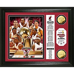 2012 NBA Champions 'Banner' Gold Coin Photo Mint