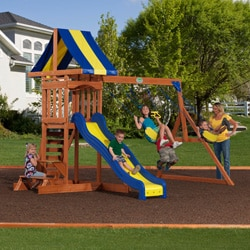 Backyard Discovery Providence All-cedar Swingset with Sandbox