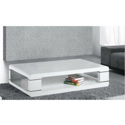 White Lacquer Finish Coffee Table