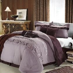 Highpoint Plum 8-piece Queen/King Comforter Set