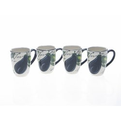 Certified International Melanzana 20-ounce Mugs (Set of 4)